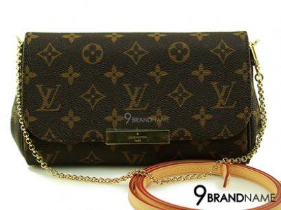 Louis Vuitton Favorite PM Monogram With Straps -  Authentic Bag กระเป๋าหลุยวิตตอง เฟโวริท พีเอ็ม โมโน มีสายยาวและสายโซ่สะพายไหล่ ขายกระเป๋าหลุยของแท้ค่ะ