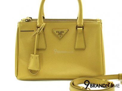 Prada Saffiano Lux Ginestra Double Zip With Strap Size 25