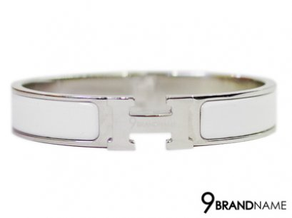 Hermes Cilc Clac Steel Ceramic White Size M