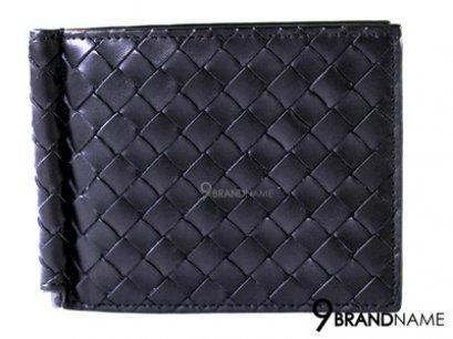 Bottega Veneta Money Clip Black Calfskin มันนี่คลิป บอเตก้า หนังสานสีดำ ยิ่งใช้ยิ่งสวยค่ะใบนี้ ของแท้ มือสอง สภาพดีค่ะ