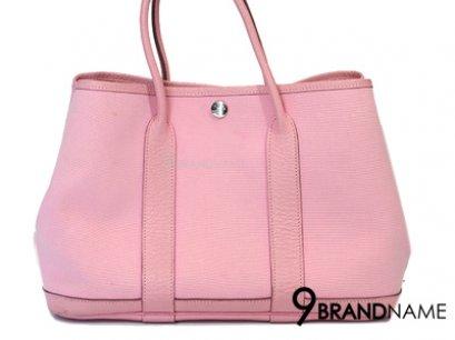 Authentic Hermes Garden Party Rose Sakura Baby Pink Tote Bag