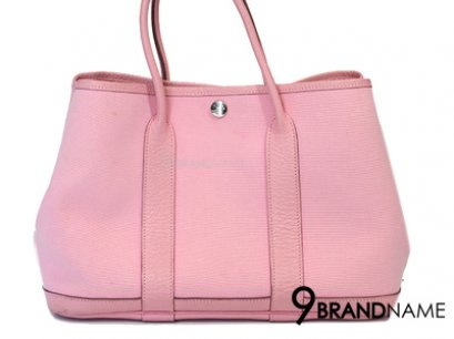 Authentic Hermes Garden Party Rose Sakura Baby Pink Tote Bag