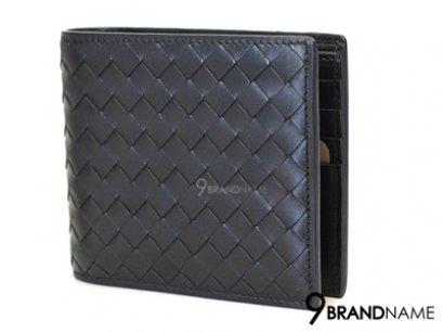 New Bottega Venneta Wallet 8 Card Calf Black Color