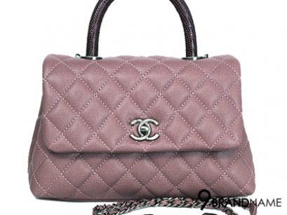 Chanel Coco Pink Caviar + Lizard Handle size 9.5