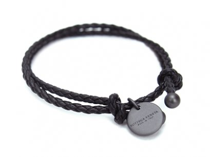 Bottega Veneta Dark Brown leather bracelet Free Size