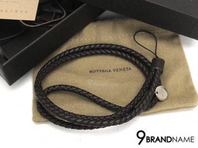 Bottega Veneta Long Mobile Phone Stap Brown