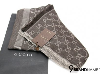 New Gucci Scarf Brown Size 70x195