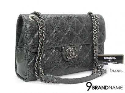 Chanel Flap Bag 10.5 Caviar Green RHW Crossbody  - Used Authentic Bag  กระเป๋าชาแนล แฟลบแบค สีเขียวหนังวัวยับ อะไหล่รมดำ ไซส์ 10.5นิ้ว ครอสบอดี้ได้ ปรับสายสะพายไหล่ได้ ถืออกงานหรูค่ะ ของแท้มือสอง สภาพดีค่ะ