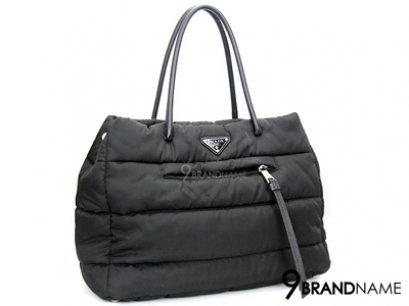 Prada nylon Gaufre Tote Black Color