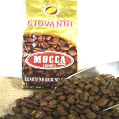กาแฟโจวันนีรสมอคค่าขนาด 100 กรัม แบบเม็ด Single Arabica 100%