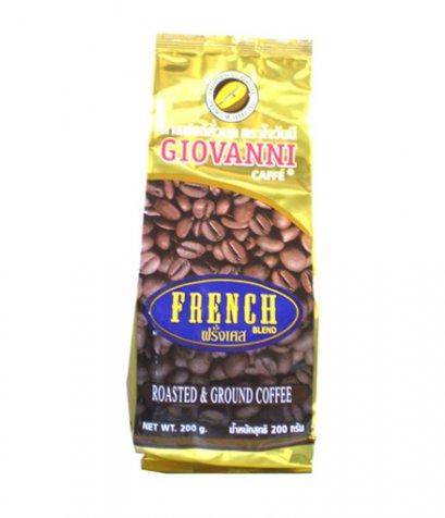 กาแฟโจวันนีรสฝรั่งเศส ขนาด 200 กรัม แบบบด Blend Arabica+Robusta