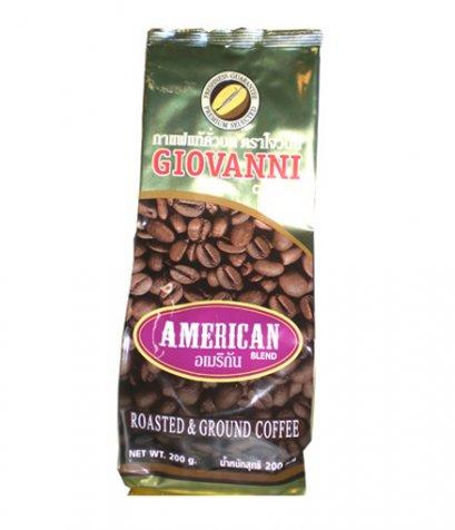 กาแฟโจวันนีรสอเมริกัน ขนาด 200 กรัม แบบบด Blend Arabica+Robusta