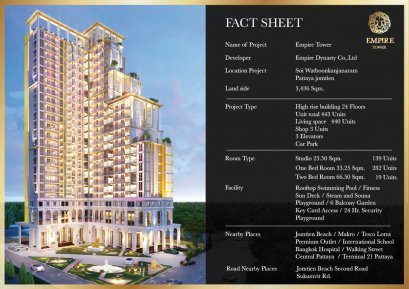 Pre-Sale!!start 1.79m EMPIRE TOWER at JOMTIEN BEACH, PATTYA