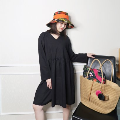 Leska Japanese Dress (Black)