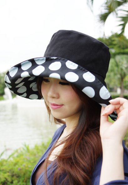 Polka Dotti Black and Blue (Signature ATP Hat)