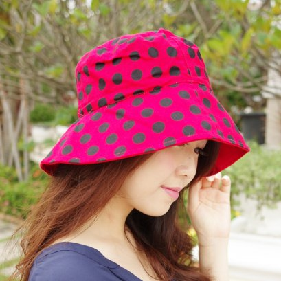 Polka Dotti Red (Short Brim)