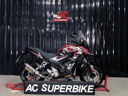 CB500X สีแดงดำ