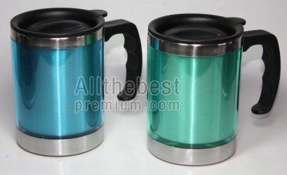 ชุดแก้วสแตนเลสมีหูจับ ขนาด 450 ml.