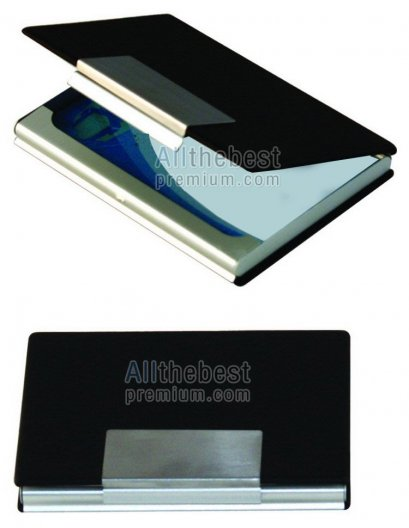 กล่องนามบัตรโลหะ-บาง หุ้มด้วยหนัง