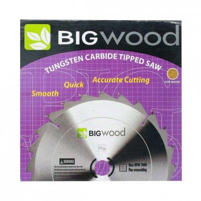 ใบเลื่อยวงเดือนคาร์ไบด์ (สำหรับตัดอลูมิเนียม)  Big wood ผลิตจากเหล็กที่มีคุณภาพดี