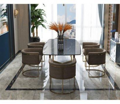 เก้าอี้ทานข้าว Luxury ทอง