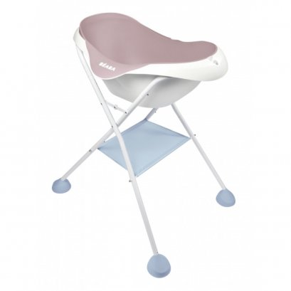 อ่างอาบน้ำพร้อมขาตั้ง BEABA Camélé'O 1st age Baby Bath with Foot Support - Vintage Pink