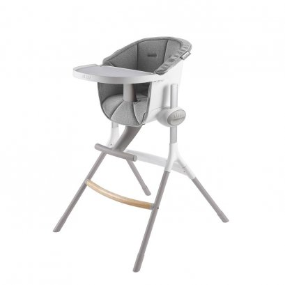 เก้าอี้ทานอาหารเด็กพร้อมเบาะ BEABA Up&Down High Chair with Grey Cushion