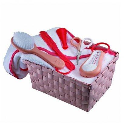 Bathtime basket - CORAL/NUDE