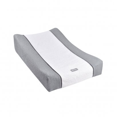 """SOFALANGE Changing Mat with """"Honeycomb"""" Cover Fitted Sheet - Light Grey"""