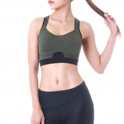Women's TL Move Sports Bra (Khaki)