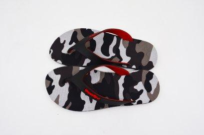 FLIPPER 2 TONE- blackOut พื้นลายทหารดำ/หูดำแดง
