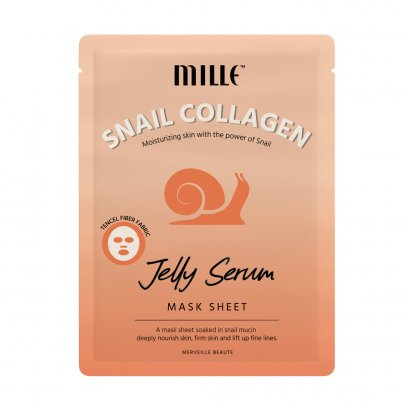 MILLE SNAIL COLLAGEN JELLY SERUM MASK SHEET