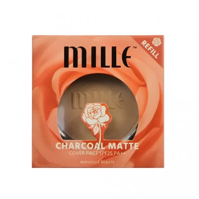 MILLE CHARCOAL MATTE COVER PACT REFILL SPF25 PA++ 11G.