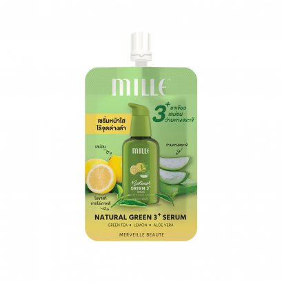 MILLE NATURAL GREEN 3+ SERUM 6G.