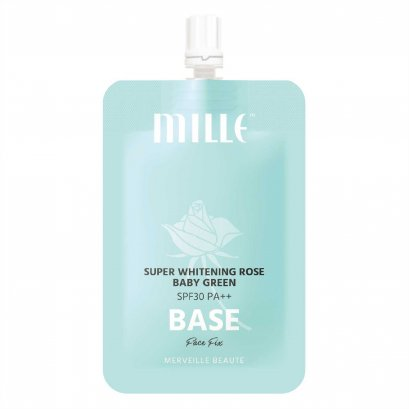 MILLE SUPER WHITENING ROSE BABY GREEN BASE SPF 30 PA++ 6G.
