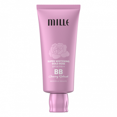 MILLE SUPER WHITENING GOLD ROSE BB CREAM SPF30 PA++  30G.