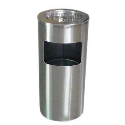 ถังขยะมีที่เขี่ยบุหรี่สแตนเลส ทรงกลม รุ่น BN-102