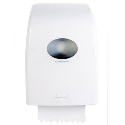 69530 กล่องบรรจุกระดาษเช็ดมือแบบม้วน AQUARIUS* Slim Hand Towel Dispenser - White