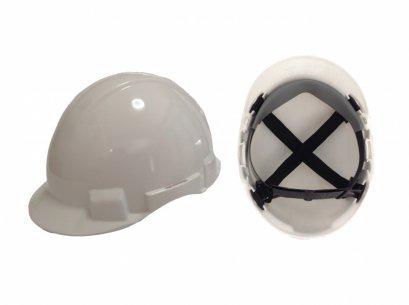 หมวกนิรภัย รองใน4จุด ปรับเลื่อน มอก.368-2538
