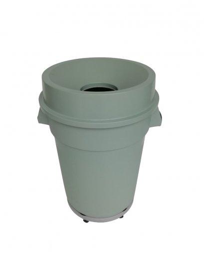 ฺB-008 ถังขยะ 120 ลิตร มีช่องทิ้ง มีฐานล้อ