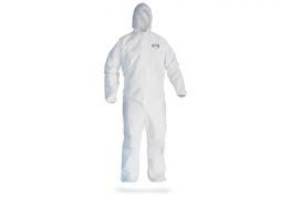 98002 KLEENGUARD* A30 White Lightweight Liquid & Particle Protective  Coverall - M Size