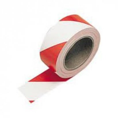 เทปตีเส้น สีขาว-แดง 2