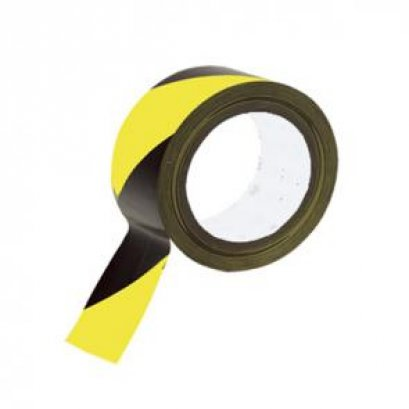 เทปตีเส้น สีเหลือง-ดำ 2