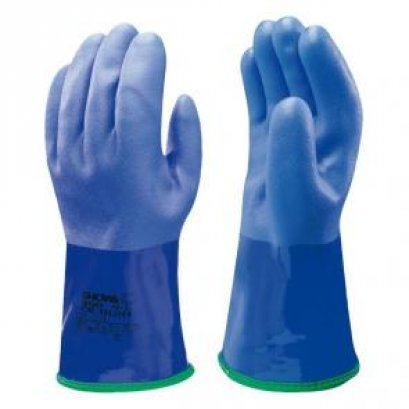 SHOWA ถุงมือผ้าเคลือบ PVC บุเส้นใยอะคริลิคด้านใน รุ่น 21SWA490 #L