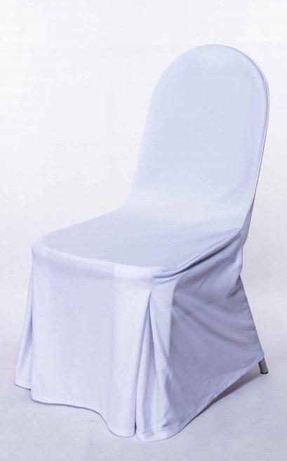 เช่าผ้าคลุมเก้าอี้ทรงยูสีขาว/ดำ