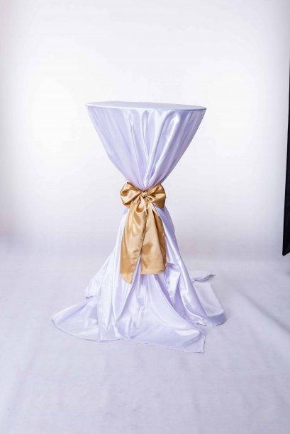 เช่าโต๊ะค็อกเทลคลุมผ้าผูกโบว์