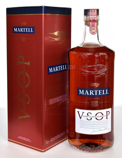 (โฉมใหม่) ลัง 12 ขวด Martell V-S-O-P 1Liter