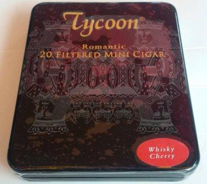 แพ็ค 5 กล่อง Tycoon Romantic Mini Cigar (Whisky Cherry)
