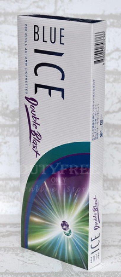 บุหรี่ Blue Ice Double Blast Slims 2 เม็ดบีบ (Made in Japan) 1 คอตตอน