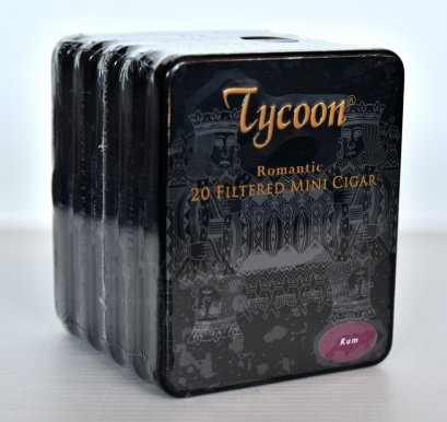 แพ็ค 5 กล่อง Tycoon Romantic Mini Cigar (Rum)